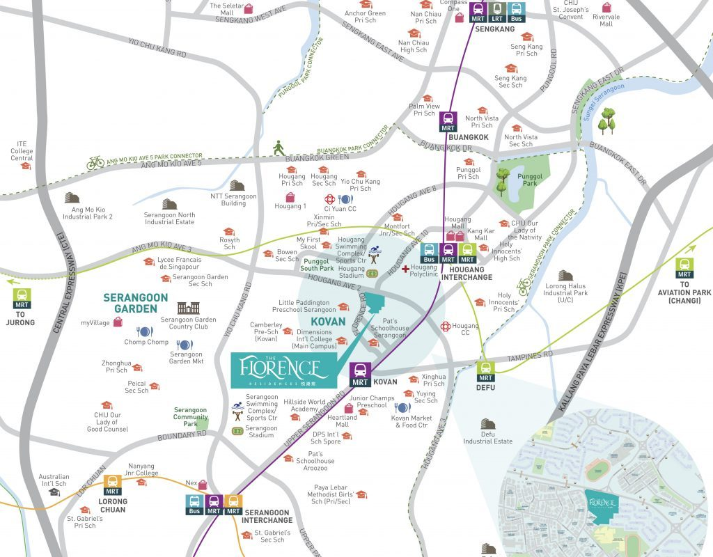 Florence Location Map